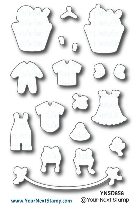 Your Next Stamp - Baby Clothes Line Die Set