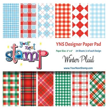 Your Next Stamp- Winter Plaid Paper Pad