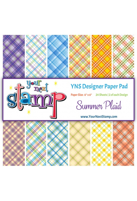 Your Next Stamp - Summer Plaid 6x6 Paper Pad