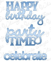 *WS* Whimsy Stamps - Birthday Sentimentables Dies - Shapeology Dies