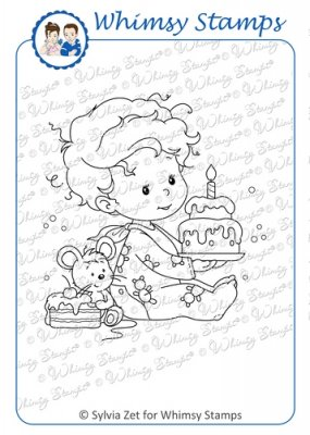 Whimsy Stamps - Wee Stamps - Birthday Baby Boy - Wee Stamps