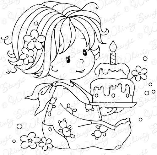 Whimsy Stamps - Wee Stamps - Birthday Baby Girl - Wee Stamps