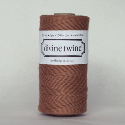 Divine Twine - Brown Solid - 10 yards