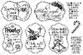 ###Whimsy Stamps - Holiday Carols Notables 4 - Sentiments Collection