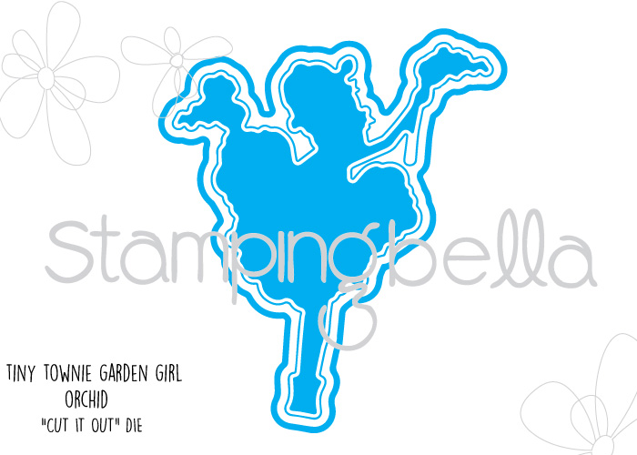Stamping Bella - Tiny Townie Garden Girl Orchid Cut It Out Die