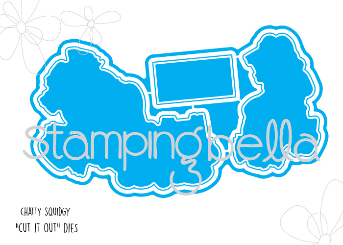 *SALE* Stamping Bella - Chatty Squidgie Cut It Out Die