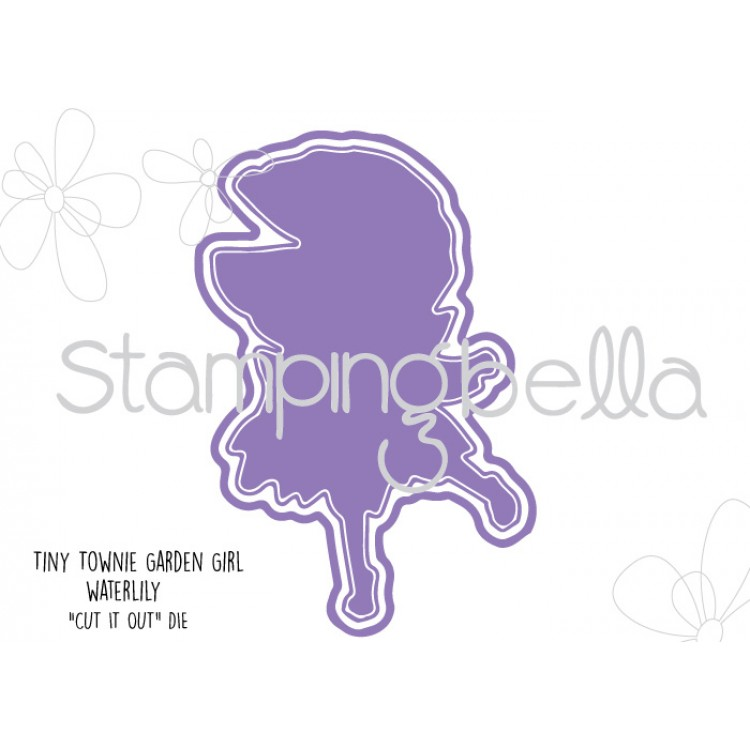Stamping Bella - Tiny Townie Garden Girl Water Lily CUT IT OUT DIE