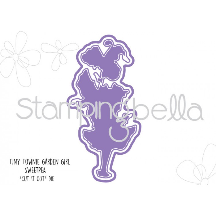 Stamping Bella - Tiny Townie Garden Girl Sweet Pea CUT IT OUT DIE
