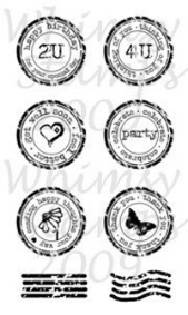 *WS* Whimsy Stamps - Circle Postmark Sentiments - Sentiments Collection