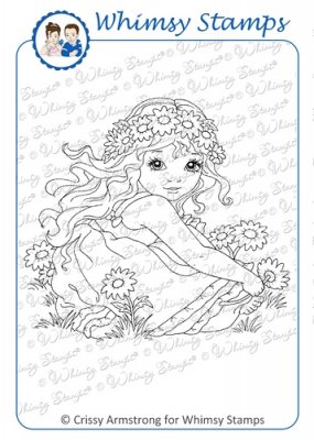 Whimsy Stamps - Crown of Daisies - Crissy Armstrong Collection
