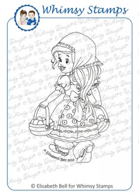 Whimsy Stamps - Ellabelle Collecting Eggs - Elisabeth Bell