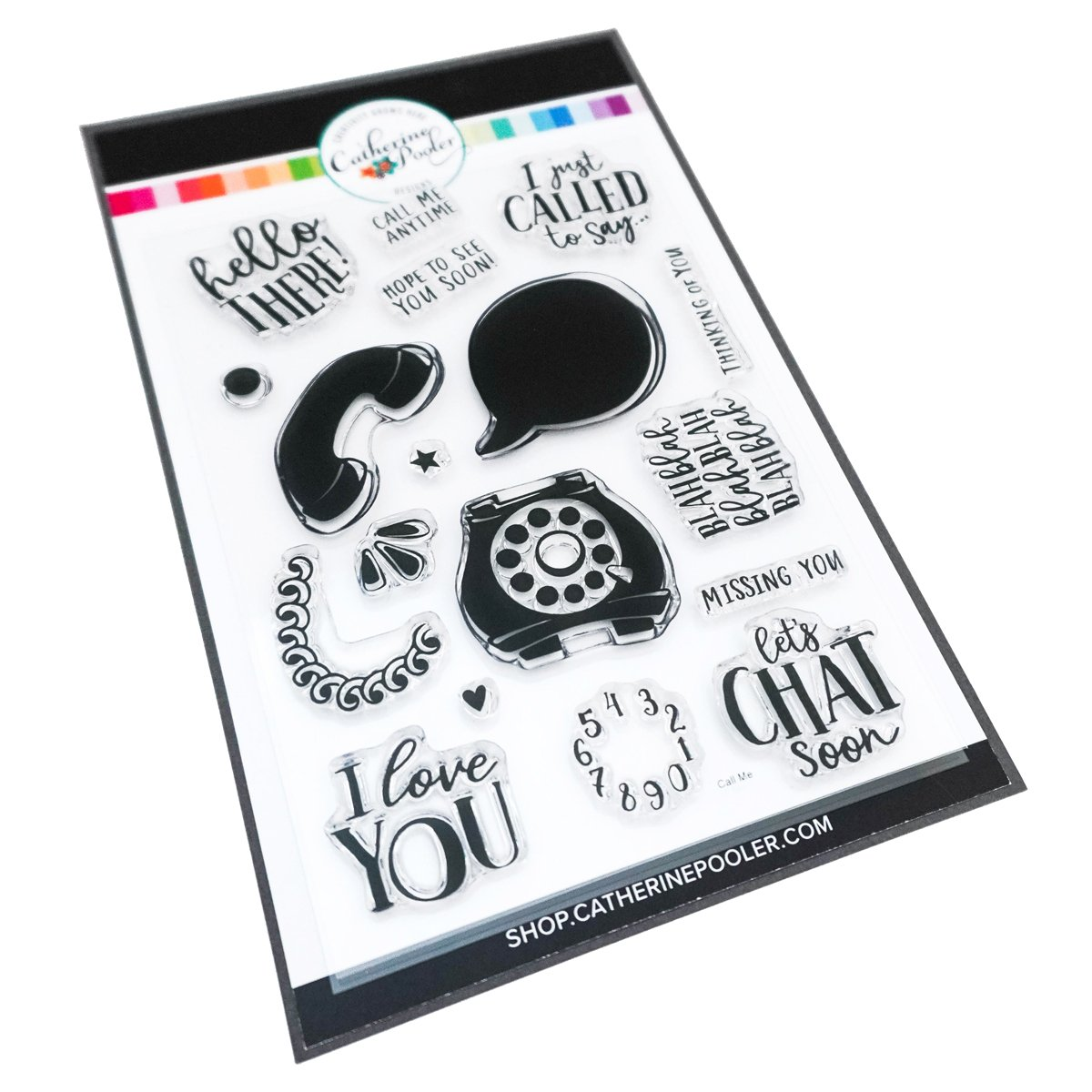 *NEW* - Catherine Pooler - Call Me! Stamp Set