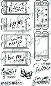 *WS* Whimsy Stamps - Friendship Ticket Sentiments - Sentiments Collection