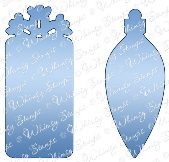 ###Whimsy Stamps - Holiday Gift Tags Die Set - Shapeology Dies