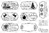 ###Whimsy Stamps - Holiday Notables 1 - Sentiments Collection
