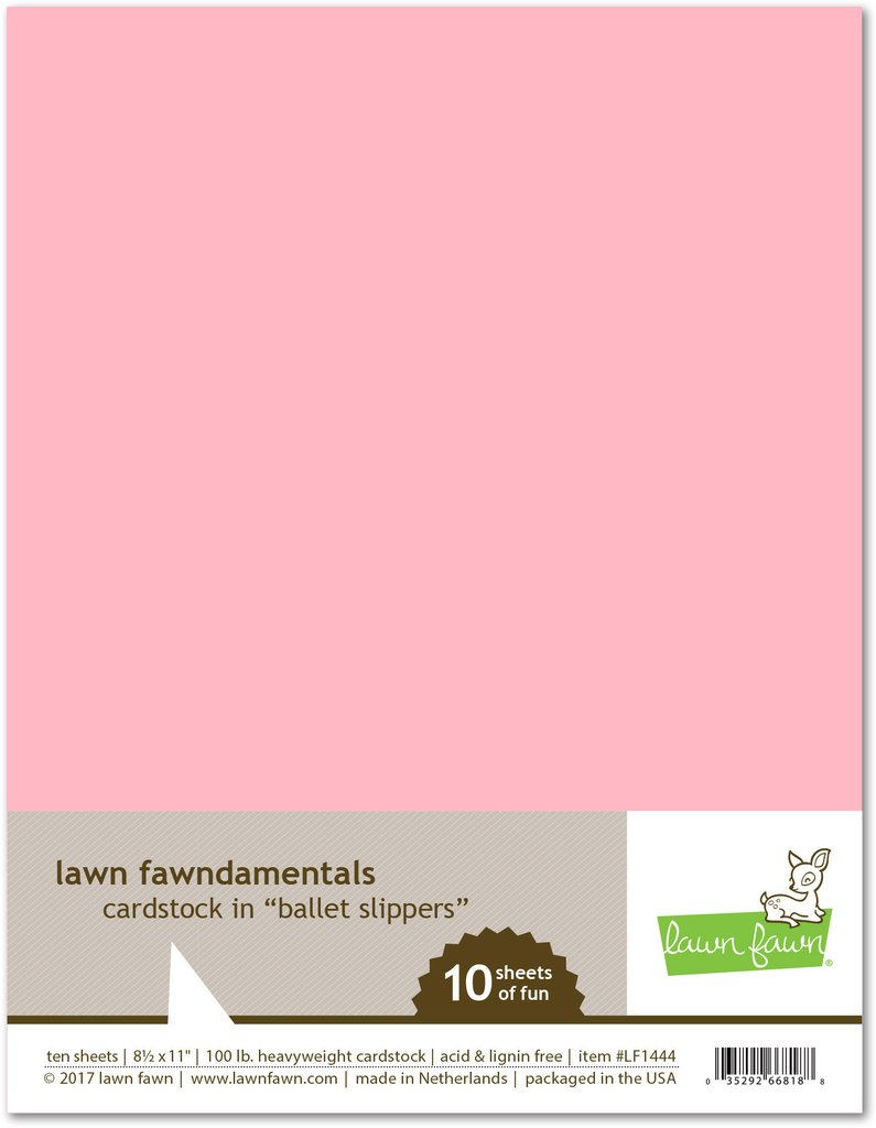 Lawn Fawn - ballet slippers cardstock