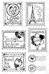 ###Whimsy Stamps - Love Postage Stamps - Sentiments Collection