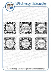 ###Whimsy Stamps - Love Tiles - Sentiments Collection
