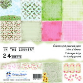 SP1 Whimsy Stamps - In The Country 6 x 6 Papers - Paper Packs and Enamel Dots