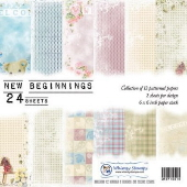SP1 Whimsy Stamps - New Beginnings 6 x 6 Papers - Paper Packs and Enamel Dots