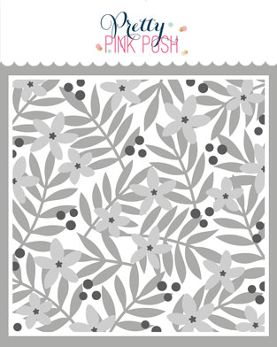 *NEW* - Pretty Pink Posh - Layered Leaves & Flowers Stencils (3 Pack)