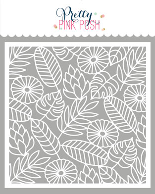 *NEW* - Pretty Pink Posh - Jungle Background Stencil