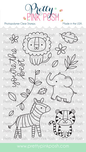*NEW* - Pretty Pink Posh - Jungle Friends stamp set