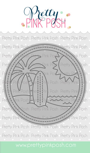 Pretty Pink Posh - Beach Scene Die