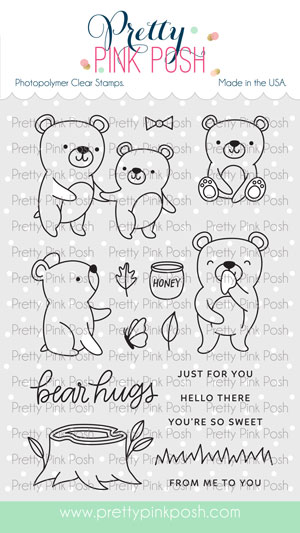 Pretty Pink Posh - Bear Friends Stamp Set