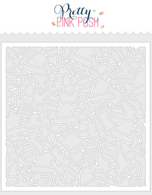 *NEW* - Pretty Pink Posh - Whimsical Christmas Stencil