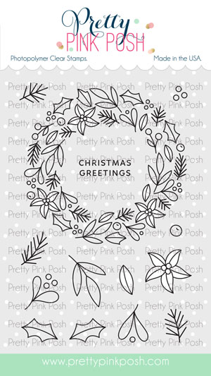 *NEW* - Pretty Pink Posh - Winter Wreath Stamp Set