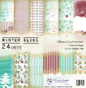 Whimsy Stamps - Winter Blues 6 x 6 Papers - 6 x 6 Paper Packs