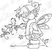 Whimsy Stamps - Wee Stamps - Winter Fairy - Wee Stamps