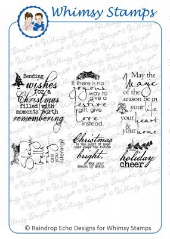 ###Whimsy Stamps - Holiday Cheer - Sentiments Collection