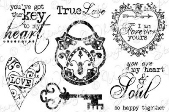###Whimsy Stamps - Key to My Heart - Sentiments Collection
