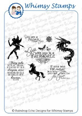 ###Whimsy Stamps - Once Upon A Time - Sentiments Collection